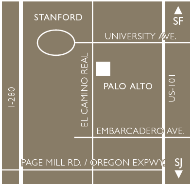 The Clement Hotel - Palo Alto Map